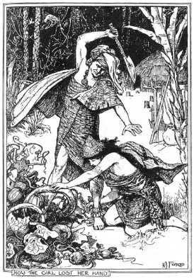 """Ford's illustration for """"The Girl Without Hands"""", another grim fairy tale."""